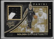 2015-16 Black Gold Shane Larkin Golden Opportunity Patch /25 Brooklyn Nets