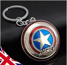 Captain America Shield Keyring - Handbag Charm - Marvel Avengers Christmas Gift