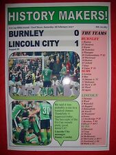 Burnley 0 Lincoln City 1 - 2017 FA Cup - souvenir print