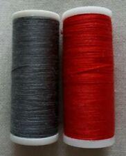 Nuevo 1 cada X 180m Blanco Negro máquina de mano Gris Azul Marino Costura Hilo de algodón Crema
