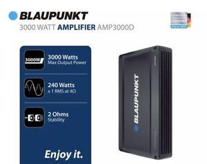 BLAUPUNKT AMP3000D 3000 WATTS 1 Channel MONOBLOCK AMPLIFIER I NEW I SEALED