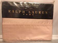 Vintage RALPH LAUREN Estate Shell Pink Full Flat Sheet 1st Quality Sateen!