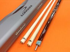 LONGONI CAROM CUE LEPPENS WITH S20 SHAFTS & CASE