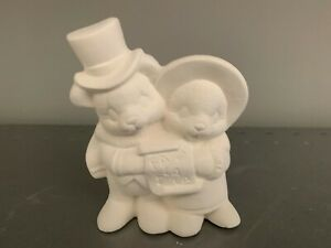 FALL Teddy Bears * Ceramic Bisque Ready to Paint