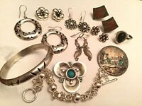 10 pc Sterling Silver 925 MEXICO Mix Jewelry Lot - Some Signed TAXCO Eagle 3