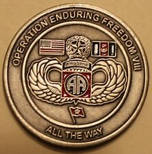 82nd Airborne Division Deputy Commander for Operations OEF Army Challenge Coin