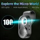 APEXEL APL-MS001 Mini Portable Smartphone 100X Microscope w/ LED Light+Clip U4M1