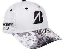NEW Bridgestone Luau Series Collection White/Black/Green Adjustable Golf Hat/Cap