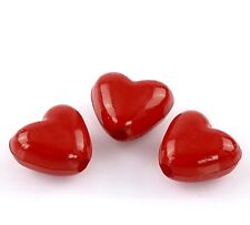 50 x 11mm Red Heart Acrylic Spacer Beads