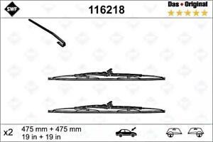 "SWF Front Wiper Blades 2pcs 475 mm 19"" Fits NISSAN OPEL VW Porsche 968 1972-2015"