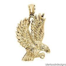 New 14k Yellow Gold Eagle Pendant