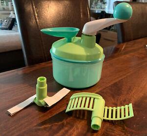 Tupperware Quick Chef, Farbe: Grün/Türkis, rühren, mixen, schneiden, zerkleinern