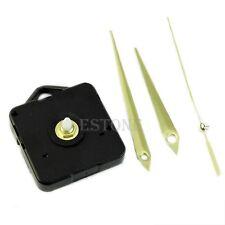 Black Quartz Wall Clock Movement Mechanism 3 Gold Hands DIY Repair Parts Kit HOT