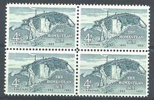 US 1962 Sc# 1198 set Homestead act Sod Hut and settlers block 4 MNH