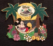 Disney Vacation Club Pin DVC 78508 Mickey Mouse Hammock Aloha Aulani Lei 2010