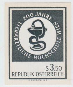 Austria 1968 POSTAL Proof Black Print Stamp 9-18-21- MNH Gum Medical nice imperf