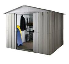 259 Refurbished Yardmaster Silver Apex Metal Shed - Max Size 7ft 11in x 9ft 9in