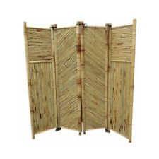 72 in. W x 72 in. H Bamboo Screen 4-Panels Self Standing