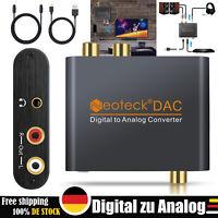 Digital zu Analog Konverter Audio Adapter DAC RCA R / L Optisch Toslink Coaxial
