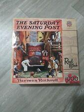 1000 piece Norman Rockwell Road Block puzzle Saturday Eveningused Master Pieces
