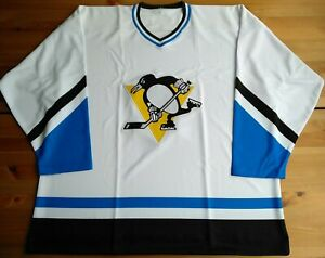 New XL 52 1974-75 Pittsburgh Penguins Home White Jersey Ultrafil Custom