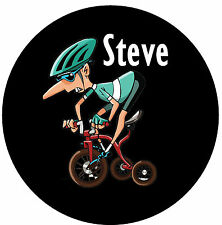 CYCLING - NOVELTY FUN PERSONALISED FRIDGE MAGNET - ANY NAME - LITTLE GIFTS