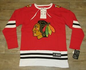 Fanatics Chicago Blackhawks Vintage Style Lace-up Home Jersey size Men's Medium