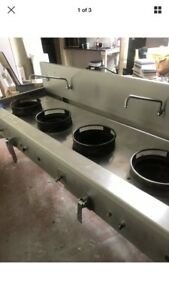 Chinese Wok Cooker 5 A Burners Excellent Heavy Duty
