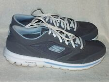 Women's Leather&Fabric Shoes by Skechers Go-Walk-Only Worn Couple of Times-Sz 10