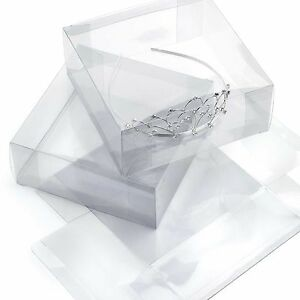 Clear Plastic Tiara Fascinator Presentation Display Boxes * A Choice of 6 sizes