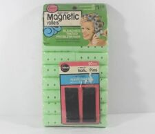 NEW Beauty Shop Magnetic rollers 18 Medium curlers 20 Pins Wil-Hold Vintage