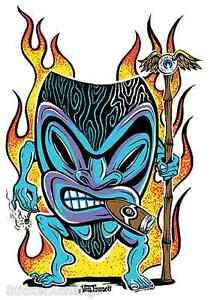 Smokin Tiki Sticker Decal Kustom Artist Von Franco VF9