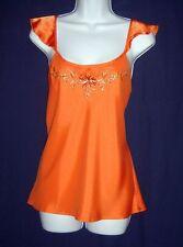$68 NWT Cabernet Orange Satin Polyester Camisole ~ Embellishments  ~ Medium M