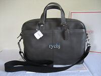 NWT COACH CAMDEN PEBBLED LEATHER COMMUTER BUSINESS BAG DARK GREY F70354