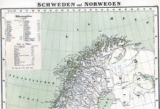 Stora 157 år gamla linne karta SCANDINAVIA Sverige Norge Finland 1860