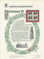 # 2368 CHRISTMAS ORNAMENTS 1987 COMMEMORATIVE PANEL