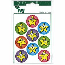 Ivy Stationery - 54 Motivational Stickers Self Adhesive Labels 19mm - Stars
