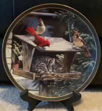 """Bradford Exchange """"Cat Nap"""" 1st issue Nosy Neighbors Cardinals collector plate"""