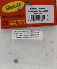 SLOT IT SIPI7014E 14-TOOTH ERGAL SIDEWINDER PINION NEW 1/32 SLOT CAR PART