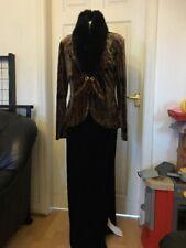 Joseph Ribkoff Couture Black Velvet Dress Jacket Suit Size 12