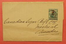 DR WHO MAURITIUS OVERPRINT NEWSPAPER WRAPPER STATIONERY TO CANADA C214693