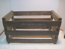 OLD VINTAGE WOOD-WOODEN PRODUCE MELON CRATE RECORD HOLDER