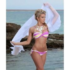 Polyester Striped Swimwear Bikini Sets for Women