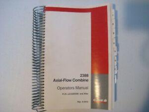 New Case IH 2388 Axial-Flow Combine Operator's Manual Rac 6-5612