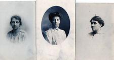 Lot Of 3 Antique Original Postcards - Ladies, (PR)