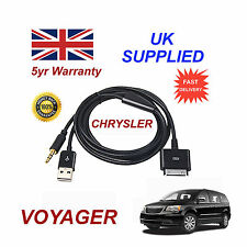 CHRYSLER Voyager Adattatore MULTIMEDIALE 71805430 iPhone iPod USB & AUX Cavo Nero