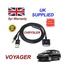 CHRYSLER Voyager Adattatore MULTIMEDIALE 71805430 iPhone iPod USB & AUX Cavo Nero