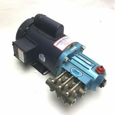 Cat Pumps 2SF10SEEL Plunger Pump Head, With Leeson 1 HP Motor, Max Flow: 1GPM