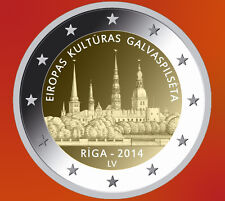 LATVIA 2 € EURO commemorative coin 2014 UNC Riga European capital of culture