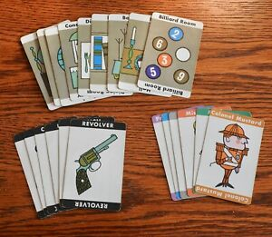 1963 CLUE game - Original set of cards - Excellent condition, great graphics